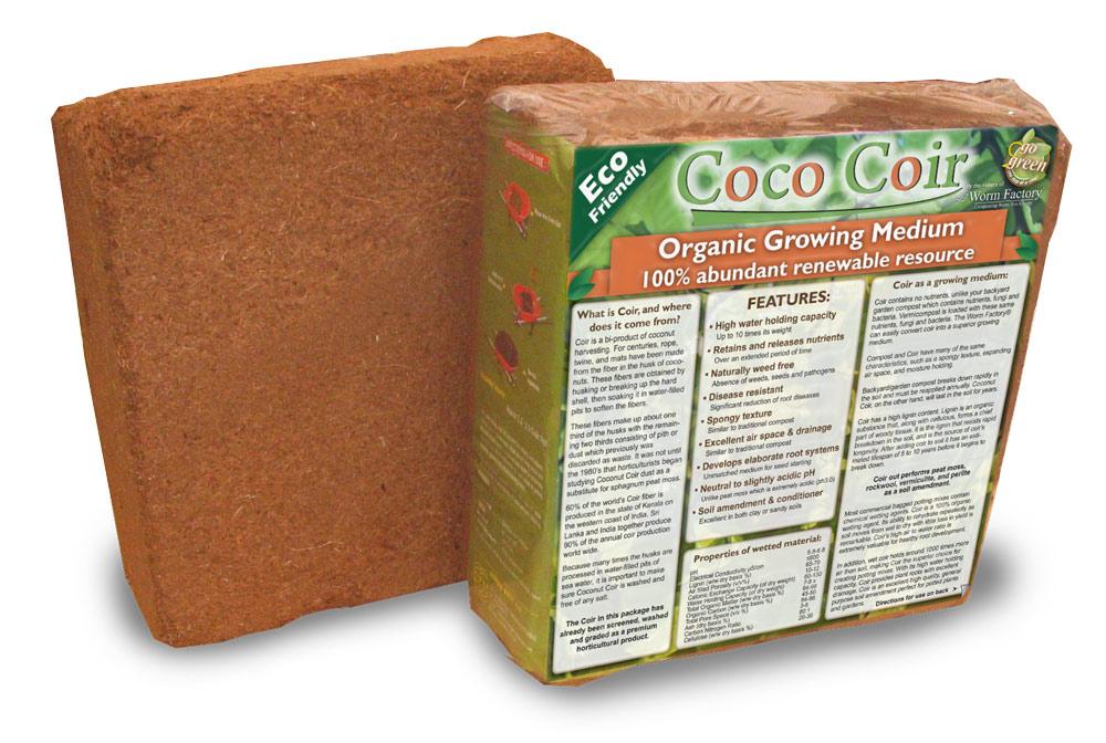 Coco coir brick